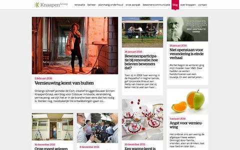 Screenshot of Blog knaapen.nl - KnaapenGroep: blogs over renovatie, beheer en onderhoud - captured Feb. 12, 2016