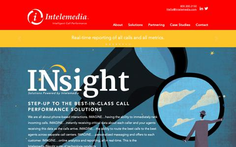 Screenshot of Home Page intelemedia.com - Intelemedia Call Management Solutions - captured Oct. 12, 2018
