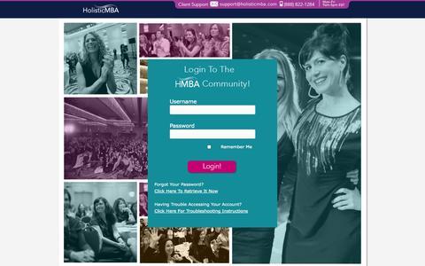 Screenshot of Login Page holisticmba.com - Holistic MBA: Membership Login — - captured Sept. 19, 2014