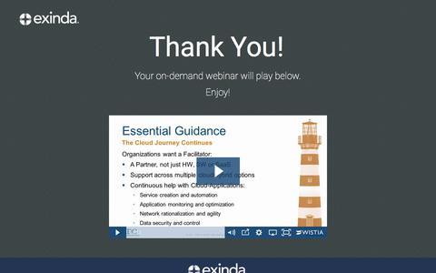 Screenshot of Landing Page exinda.com - Optimize Critical Cloud Applications | Exinda - captured June 21, 2017