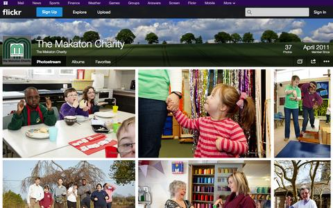 Screenshot of Flickr Page flickr.com - Flickr: The Makaton Charity's Photostream - captured Oct. 26, 2014