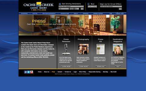 Screenshot of Press Page cachecreek.com - Cache Creek - Press - captured Nov. 18, 2015