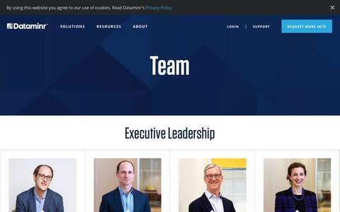 Screenshot of Team Page dataminr.com - (2) New Messages! - captured Jan. 18, 2019