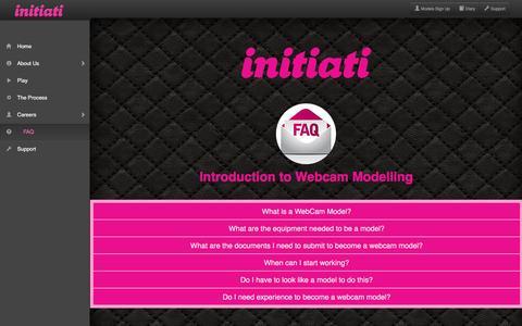Screenshot of FAQ Page initiati.com - Initiati Inc - captured Feb. 11, 2016