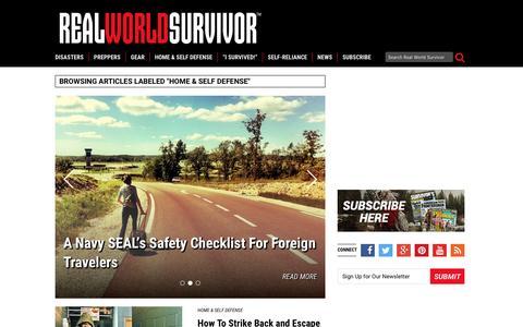 Screenshot of realworldsurvivor.com - Home Security, Self Defense Magazine: Guns | Weapons - captured May 3, 2016