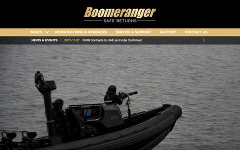 Screenshot of Home Page boomeranger.fi - Boomeranger Boats - captured Feb. 3, 2018