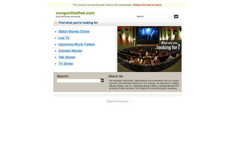 Screenshot of Home Page nungonlinefree.com - Nungonlinefree.com - captured Sept. 30, 2018