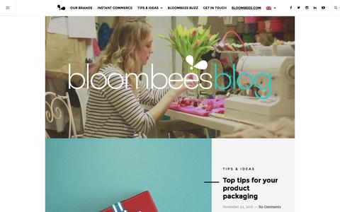 Screenshot of Blog bloombees.com - Bloombees Blog - Welcome to Instant Commerce - captured Nov. 22, 2016