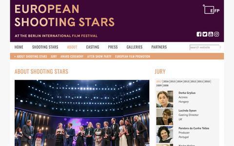 Screenshot of About Page shooting-stars.eu - Shooting Stars|about shooting stars - captured April 8, 2017