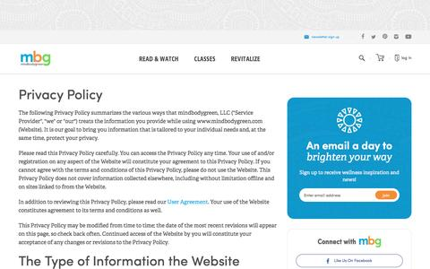 privacy policy - mindbodygreen