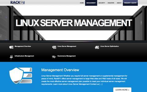 Screenshot of Team Page rack911.com - Linux Server Management, Linux Server Administration   RACK911 - captured Oct. 31, 2014