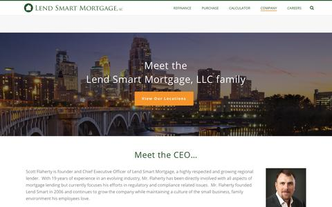 Screenshot of About Page lendsmartmortgage.com - About Lend Smart Mortgage - Lend Smart Mortgage, LLC - captured Sept. 28, 2018