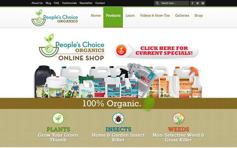 Screenshot of Products Page peopleschoiceorganics.com - Products | People's Choice Organics - captured Sept. 29, 2014