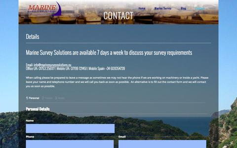 Screenshot of Contact Page marinesurveysolutions.eu - Contact | Marine Survey Solutions - captured Sept. 30, 2014