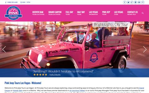 Screenshot of Press Page pinkjeeptours.com - Pink Jeep Tours Las Vegas | Tours in Las Vegas, Grand Canyon, Hoover Dam, and Red Rock Canyon - captured Sept. 19, 2014