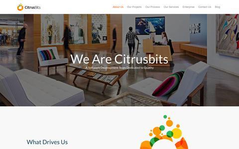 Screenshot of About Page citrusbits.com - About Leading Mobile App Developers in US - Citrusbits - captured Nov. 19, 2015