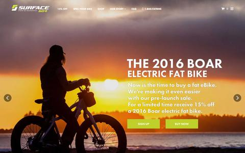 Screenshot of Home Page surface604.com - Electric Fat Bike | Surface 604 - captured Aug. 4, 2015
