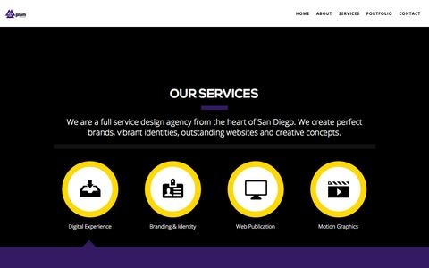 Screenshot of Services Page plumnetworks.com - Plum Networks  | Services - captured Sept. 30, 2014