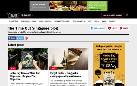 Screenshot of Blog timeout.com - The Ultimate Singapore Blog - Time Out Singapore - captured July 4, 2017