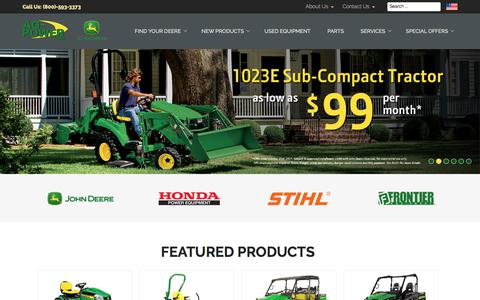 Screenshot of Home Page ag-power.com - Welcome to Ag-Power | Premier John Deere and STIHL Dealership - AG-POWER - captured Oct. 7, 2017