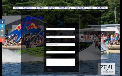 Screenshot of Contact Page wakeoff.com - Contact Us - captured Oct. 6, 2014