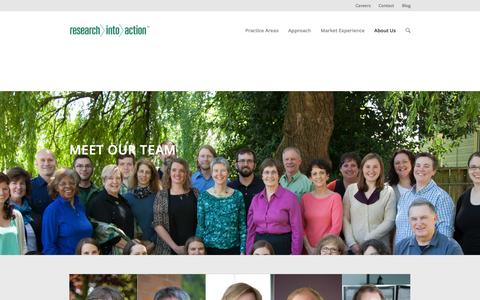 Screenshot of Team Page researchintoaction.com - Meet Our Team - captured Feb. 25, 2016