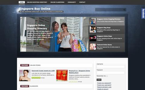 Screenshot of Home Page sgbuyonline.com - Online Shopping - Go Shopping Online with Singapore Online Shops - captured Sept. 18, 2014