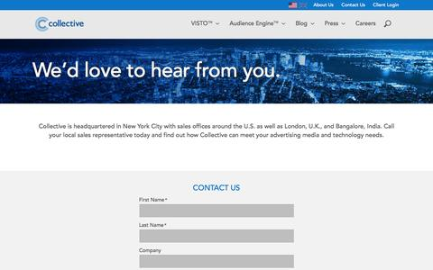 Screenshot of Contact Page collective.com - Collective - captured Jan. 30, 2016