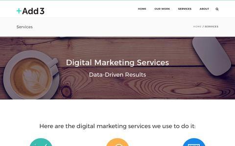 Digital Marketing Services | Add3