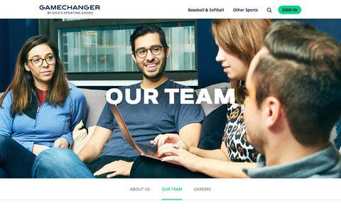 Screenshot of Team Page gc.com - Our Team | GameChanger - captured Aug. 8, 2019