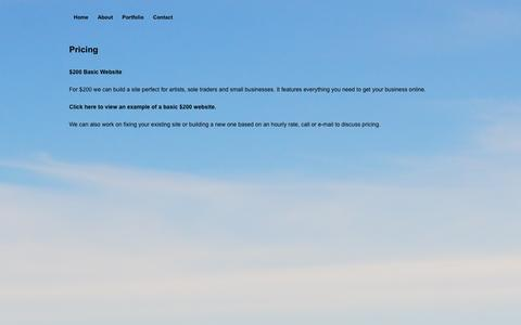 Screenshot of Pricing Page pinelife.net - Pinelife Web Design » Pricing - captured Oct. 2, 2014