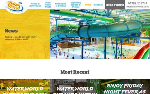 Screenshot of Press Page waterworld.co.uk - News   WaterWorld, Stoke-on-Trent, Staffordshire - captured Dec. 4, 2016