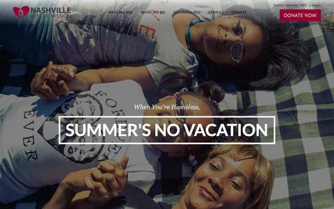 Screenshot of Home Page nashvillerescuemission.org - Page not found | Nashville Rescue Mission - captured June 17, 2015