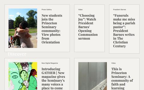 Screenshot of Home Page ptsem.edu - Home Page | Princeton Theological Seminary - captured Sept. 22, 2018