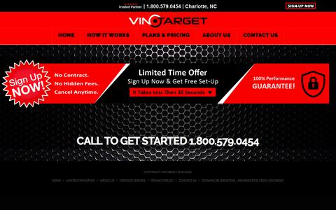 Screenshot of Signup Page vintarget.com - Sign Up | Vintarget - captured July 8, 2018