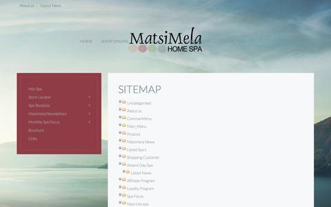 Screenshot of Site Map Page matsimela.co.za - Sitemap - captured Nov. 3, 2014