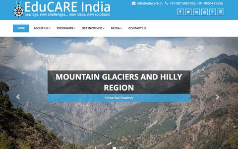 Screenshot of Home Page educare.in - EduCARE India - - captured Jan. 26, 2016