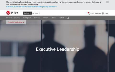 Screenshot of Team Page trendmicro.com - Leadership | Trend Micro - captured Jan. 16, 2018