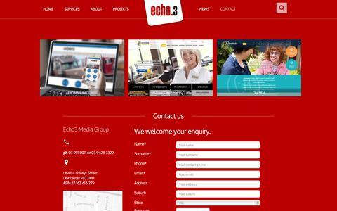 Screenshot of Contact Page echo3.com.au - Contact Echo3 Media Group - captured July 14, 2017