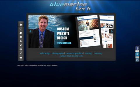 Screenshot of Home Page bluemarinetech.com - BlueMarineTech.com | Custom WordPress Website Design, Social Media, Newsletter Campaigns, - captured Jan. 27, 2015