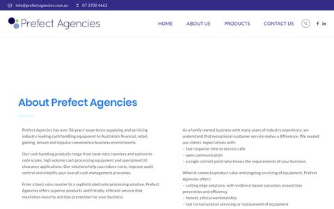 Screenshot of About Page prefectagencies.com.au - About Prefect Agencies - We understand your cash processing needs - captured July 21, 2018