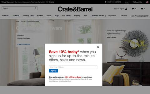 Curtains, Window Treatments and Hardware   Crate and Barrel