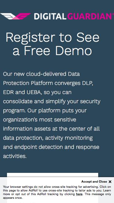 Digital Guardian | Register to See a Free Demo