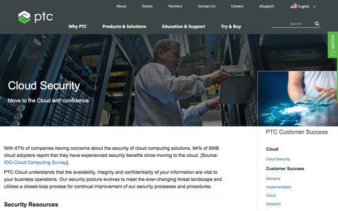 Cloud Security   PTC