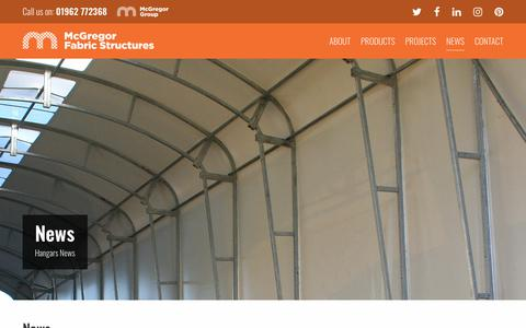 Screenshot of Press Page fabricstructures.co.uk - Blog - McGregor Fabric Structures - captured Oct. 23, 2018