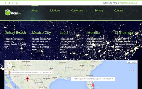 Screenshot of Locations Page nearbpo.com - Near BPO   –  Locations - captured Oct. 29, 2014