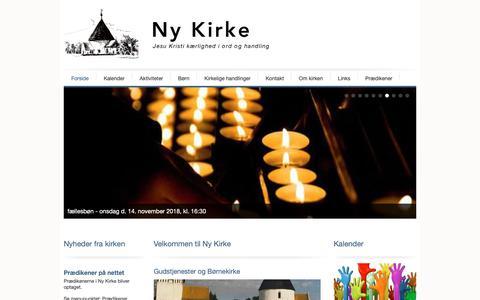 Screenshot of Home Page ny-kirke.dk - Velkommen til Ny Kirke | Ny Kirke - captured Oct. 22, 2018