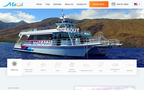 Screenshot of About Page prideofmaui.com - About The Pride of Maui | Boat and Crew Information - captured Dec. 6, 2017