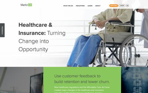 Healthcare & Insurance | MaritzCX