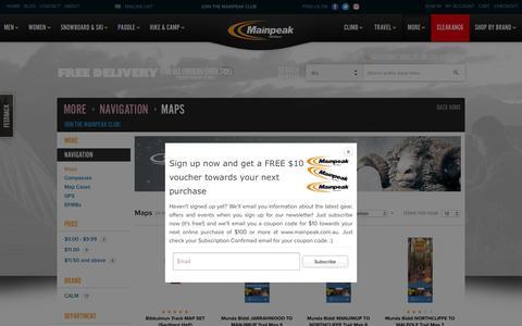 Screenshot of Maps & Directions Page mainpeak.com.au - Maps - Navigation - More   Australia's Outdoor Clothing, Equipment & Adventure Store   Mainpeak - captured Dec. 17, 2018